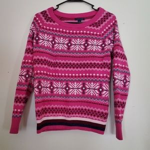 Tommy hilfiger snowflake sweater. Size medium